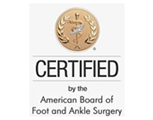 certified by the american board of podiatric surgery indiana and michigan